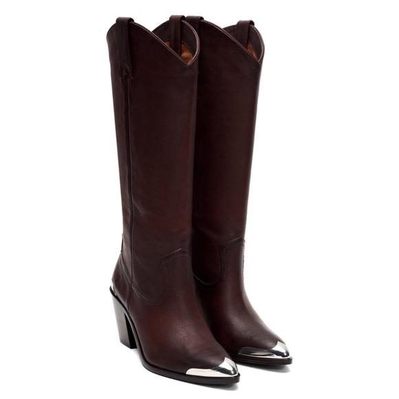 Frye Faye Metal Plate Leather Boot